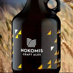 Screen printed Applied Ceramic Label For Nokomis Craft Ales