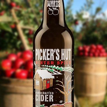 Screen printed Applied Ceramic Labels for Cideries - Picker's Hut Apple Cider