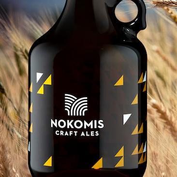 Screen printed Applied Ceramic Label For Nokomis Craft Ales